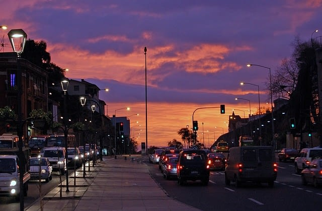 Picture of a beautiful sunset in Vina del Mar
