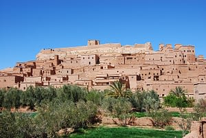 Ouarzazate is an ancient city  in the Saharan side of Morocco