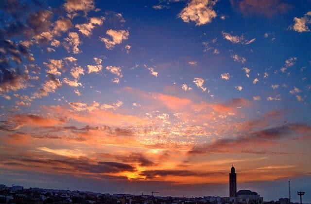 casablanca-morocco at night