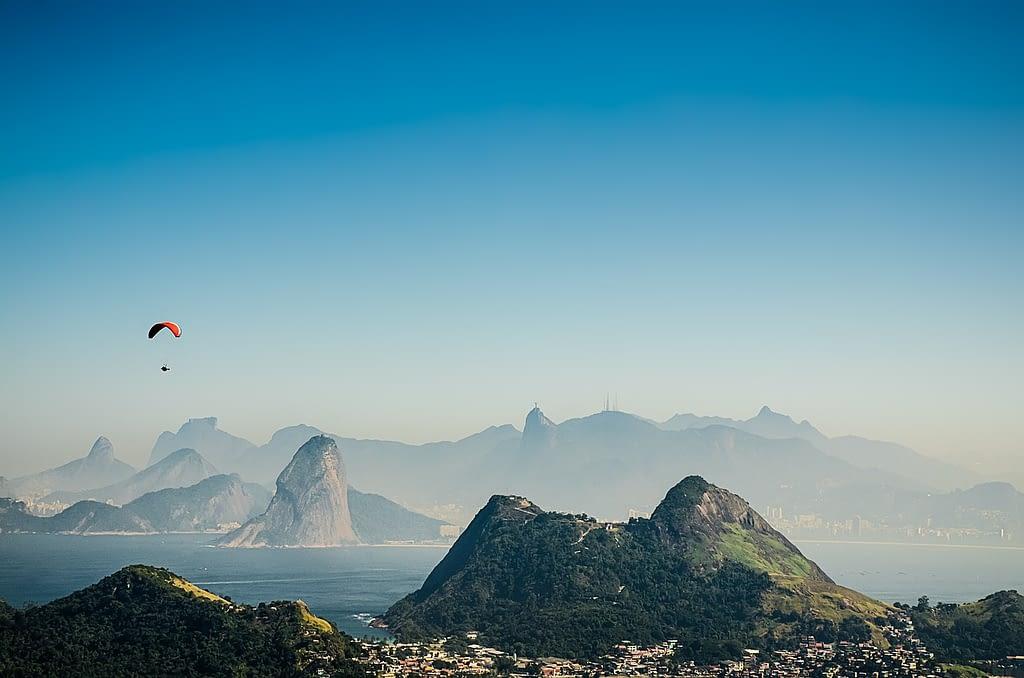 Picture of the beautiful mountains near Rio de Janeiro