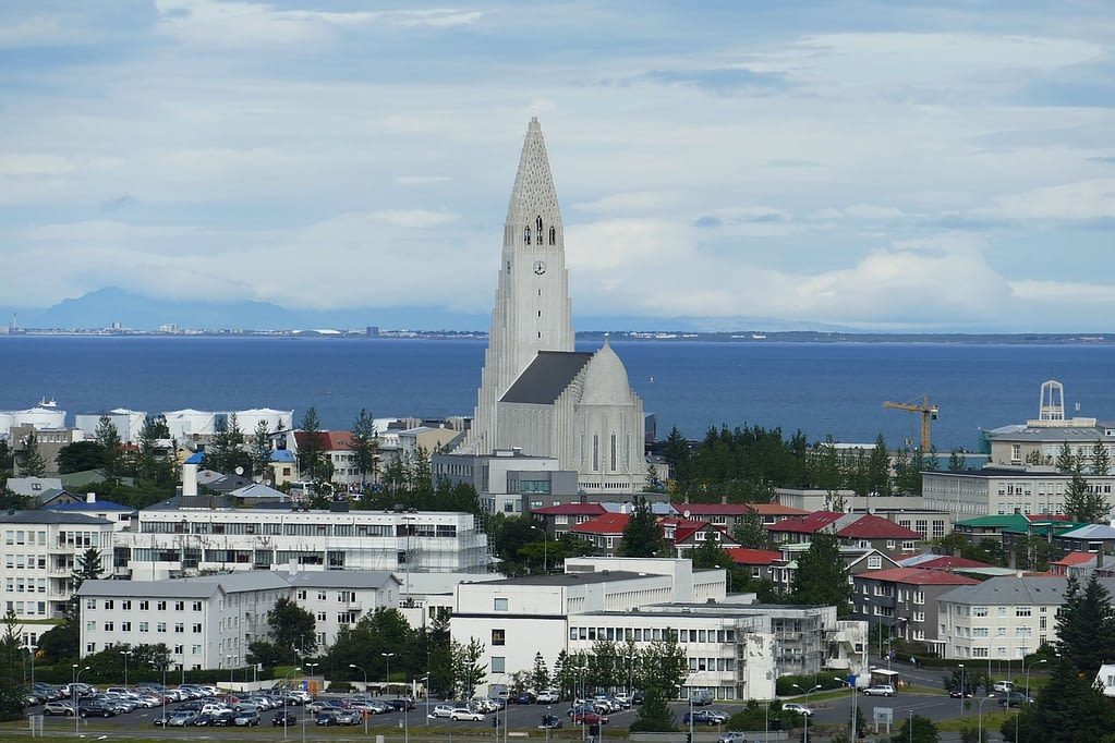 Picture of the church in Reykjavik