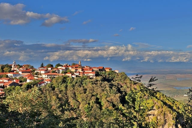 georgia-Sighnaghi cityscape