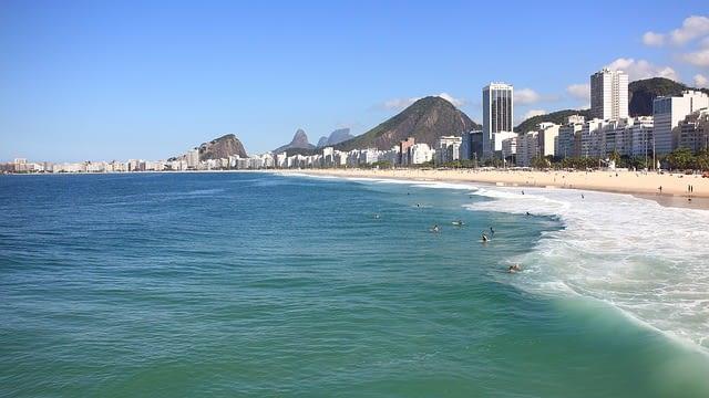 Waterside view from Copacabana Beach