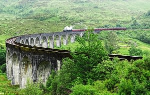 Located at the top of Loch Shiel in the West Highlands of Scotland, the viaduct overlooks the Glenfinnan Monument and the waters of Loch Shiel