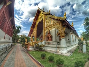 Stunning local architecture in Chiang Mai Thailand
