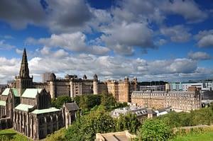 Skyscape picture of Glasgow