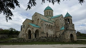 The cathedral fills the lanscape, a fine example of traditional architecture