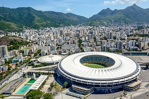 Sky picture of the Maracanã Stadium