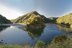 Picture of Buller Gorge on the Maruia River in New Zealand