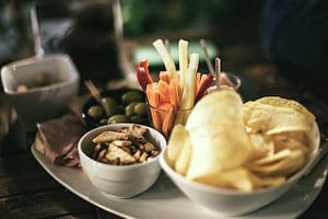 Enjoy Tapas...a local treat made with assorted appetizers