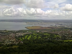 Picture of Belfast from the sky