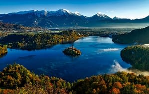 Picture of the Island Church Bled Slovenia