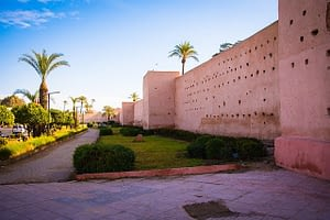 Picture of a walled city in Morocco