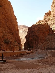 The Todra Gorge  in Morocco reaches for the sky